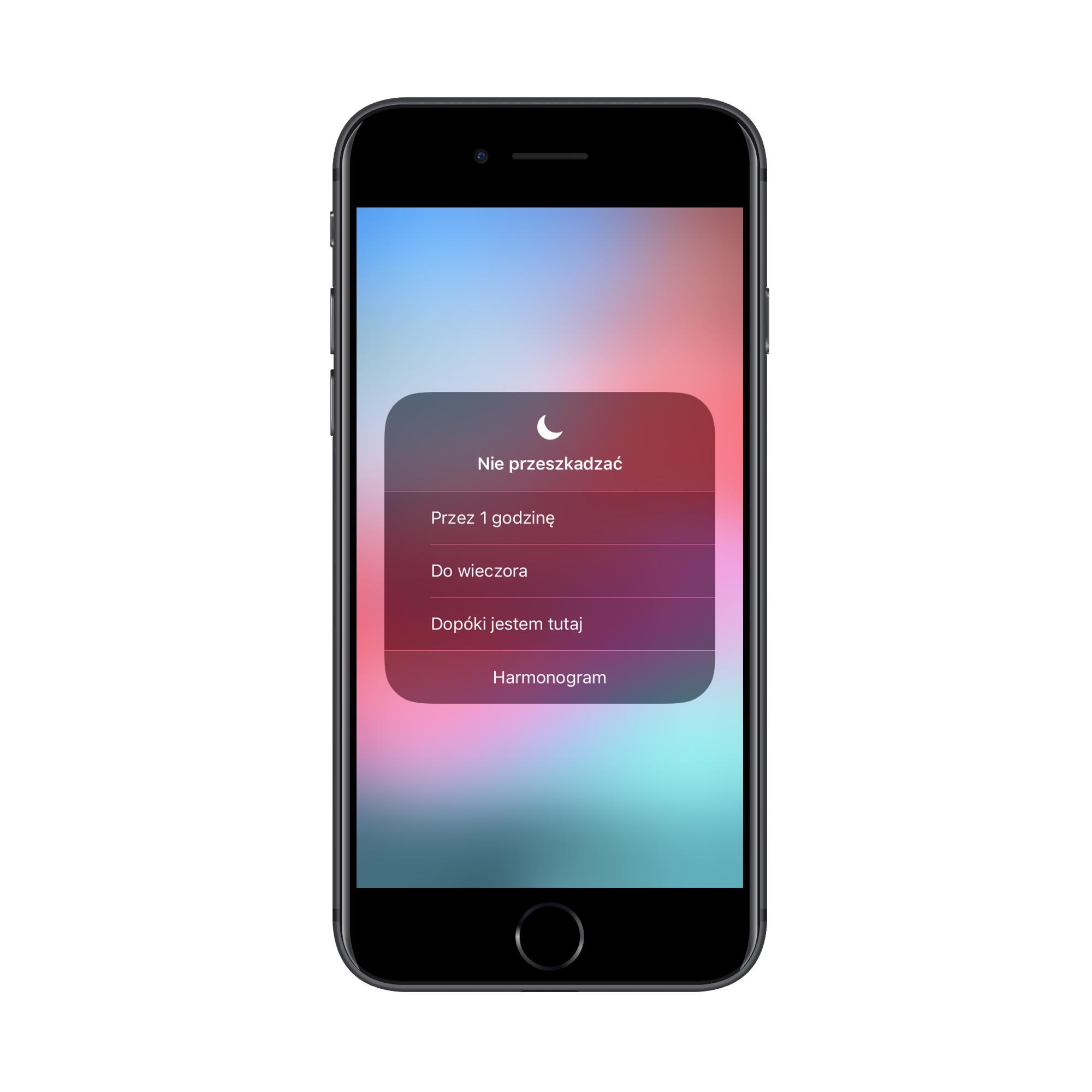Funkcja Nie przeszkadzać w iOS 12