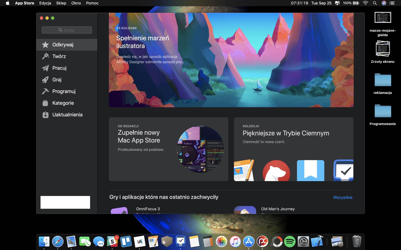 macOS Mojave - odświeżony Mac App Store