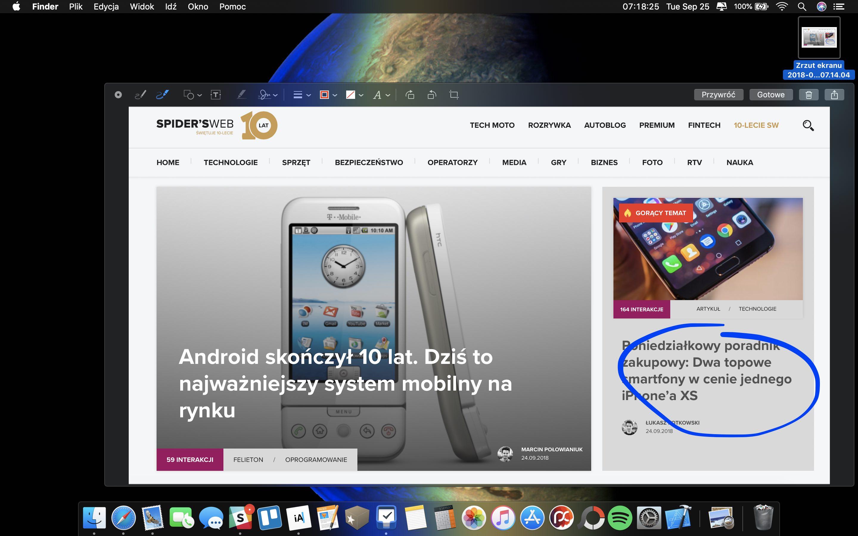 macOS Mojave - zrzuty ekranu