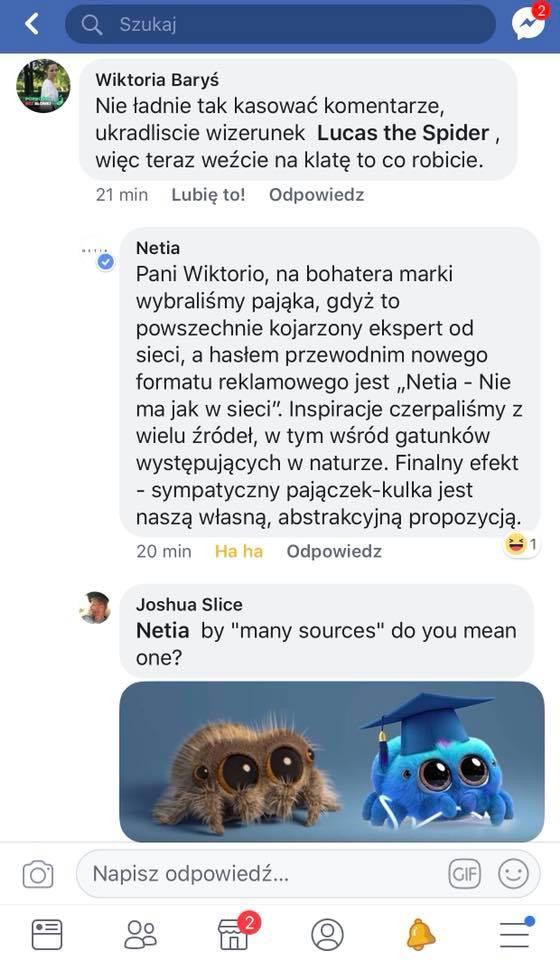 Netia plagiat spider Lucas