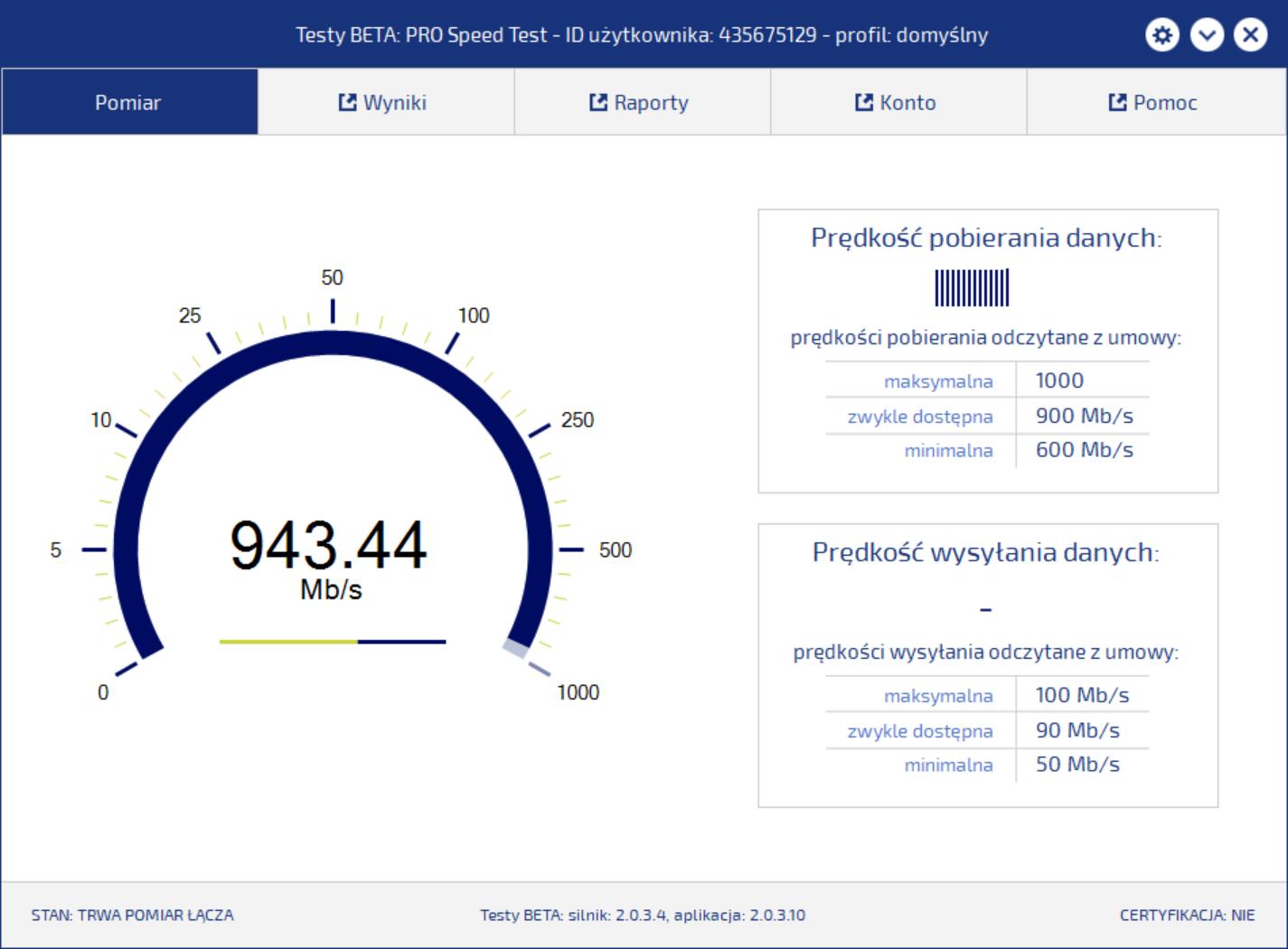 PRO SpeedTest Beta już dostępny  To certyfikowany pomiar prędkości