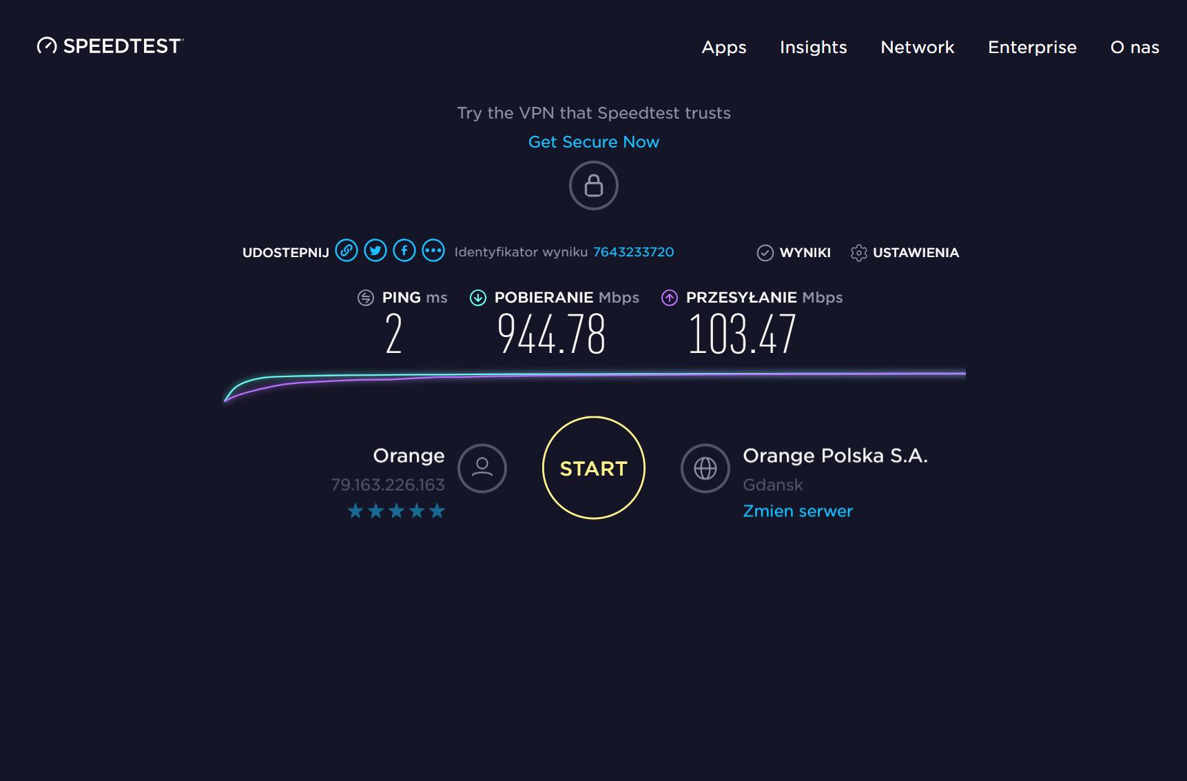 Speedtest Ookla Beta