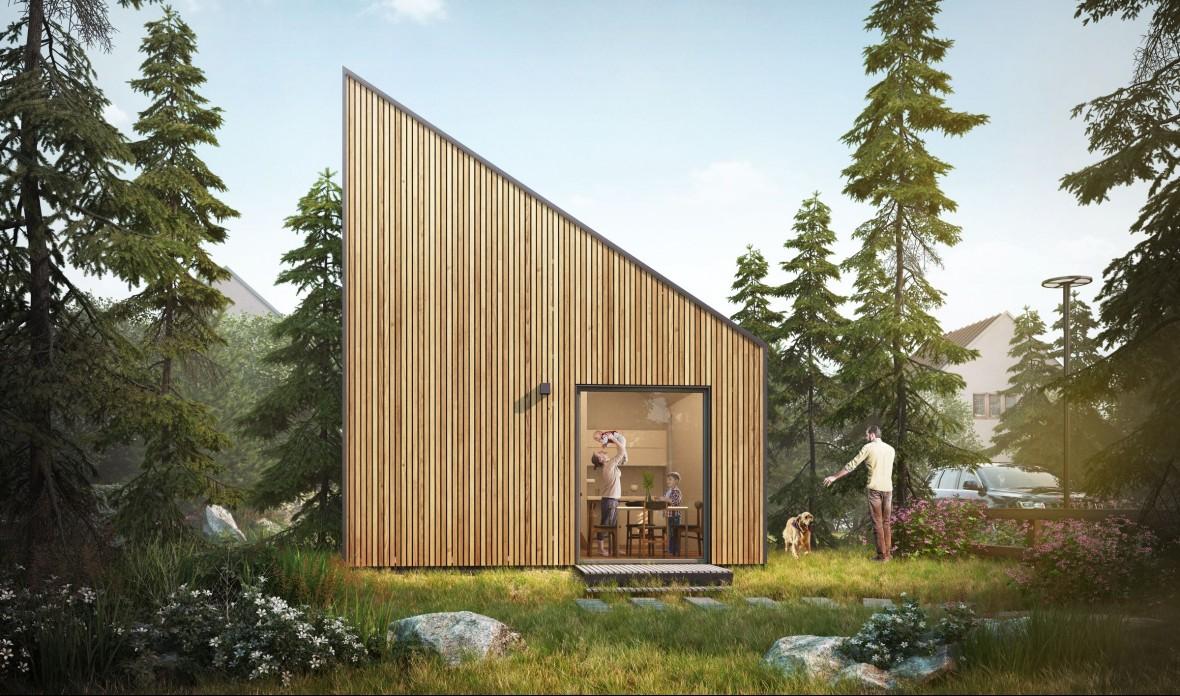 Ten piękny mikro-dom z Polski kosztuje 150 tys. zł i stawiają go w dwa dni
