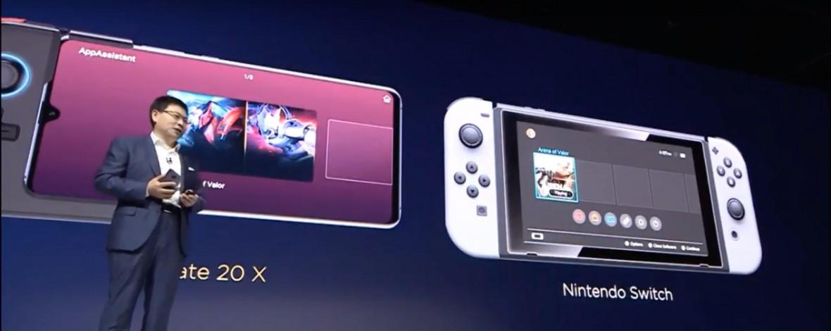 Huawei uważa, że Mate 20 X to lepsza platforma gier niż Nintendo Switch. Wyśmiano ich na własnej konferencji