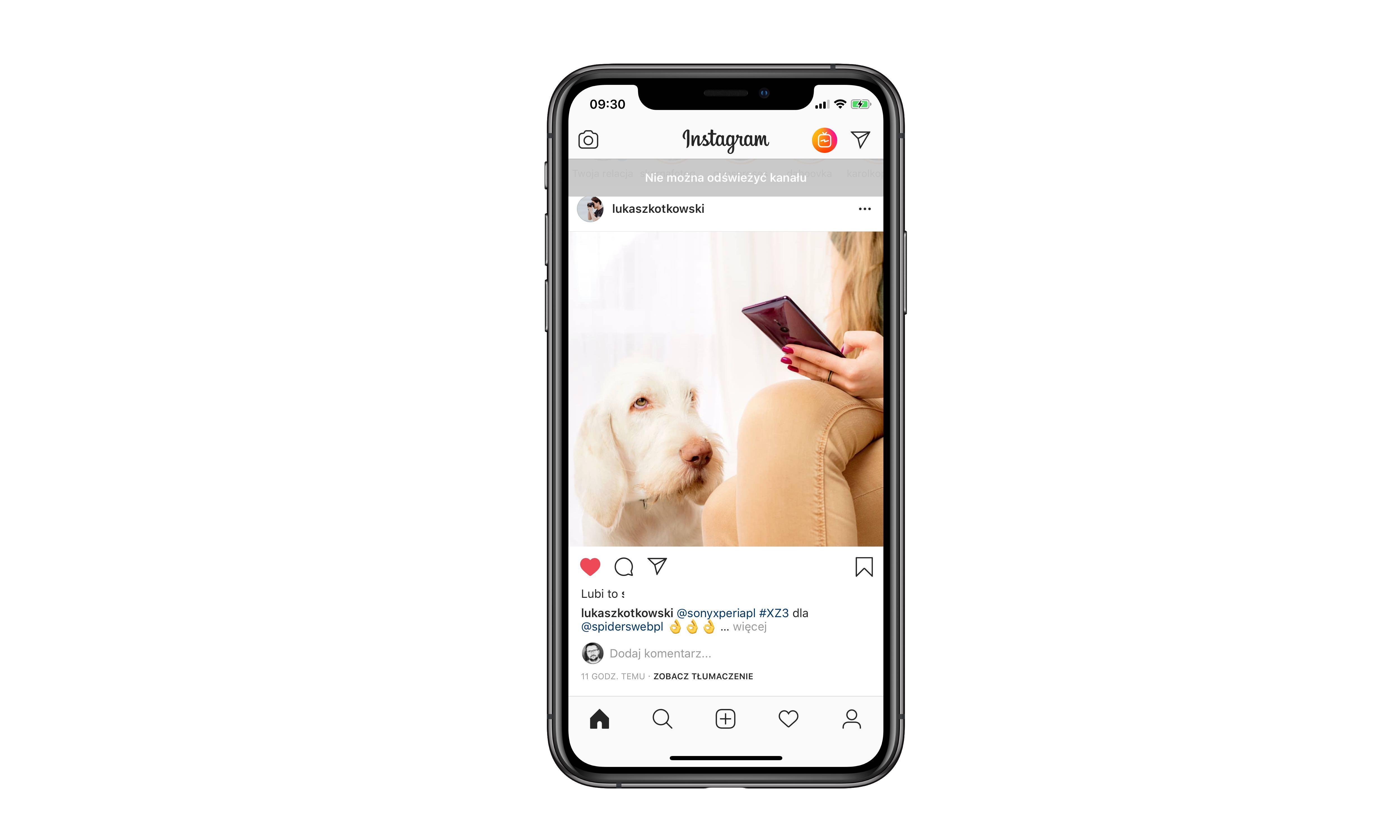 Instagram nie działa