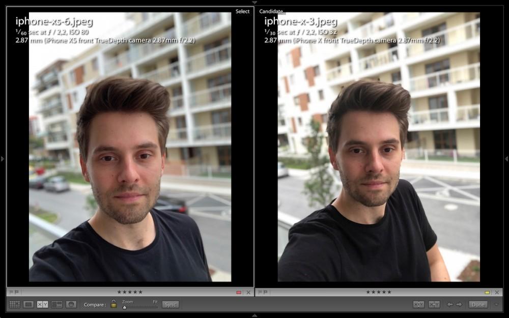 iphone xs kontra iphone xs - selfie, wygładzanie skóry, upiększanie