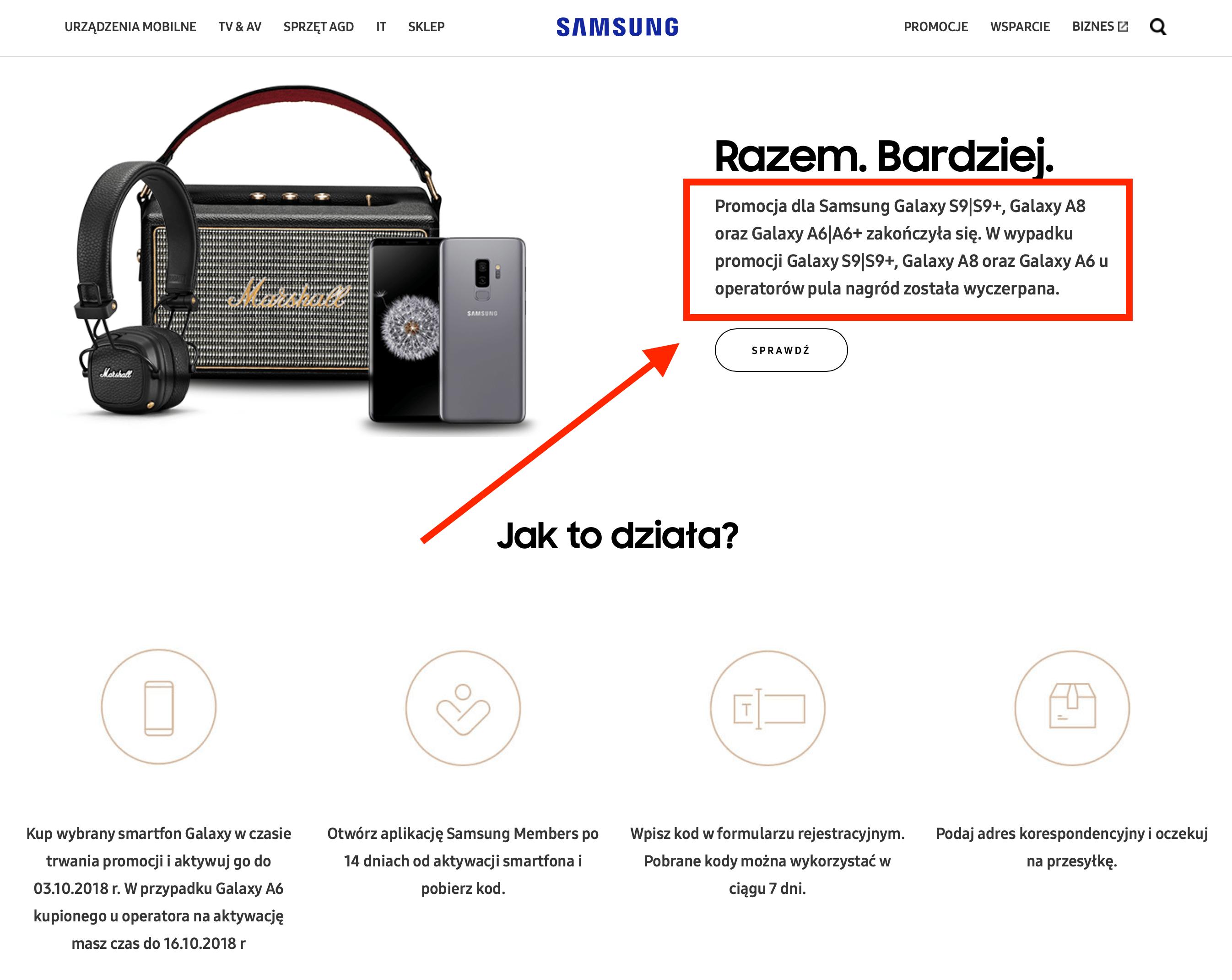 Samsung obiecał odkupić smartfony od klientów i miał im dać głośnik bluetooth, ale tego nie zrobił? Wyjaśniamy