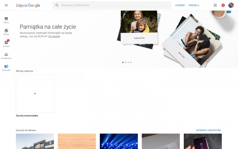fotoksiążka zdjęcia google