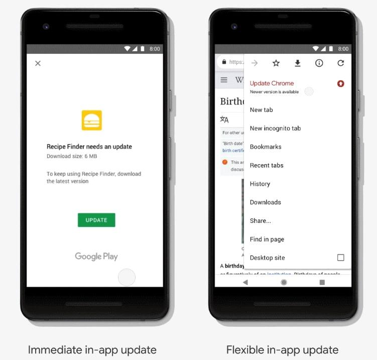 wymuszanie aktualizacji na androidzie