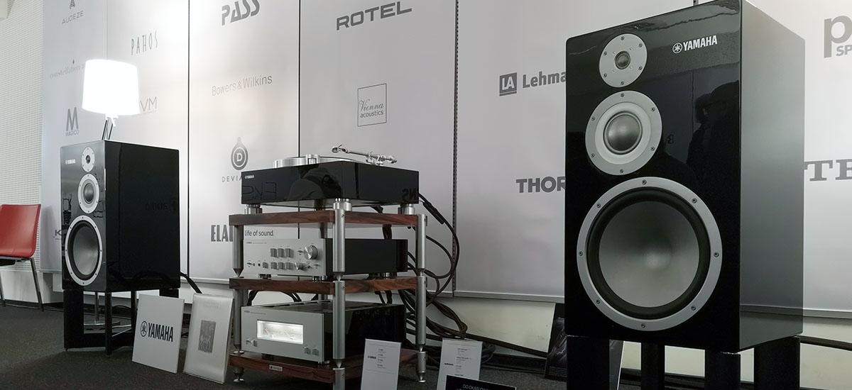 Yamaha is wonderful zylon columns - to be checked at the Audio Video Show 2018