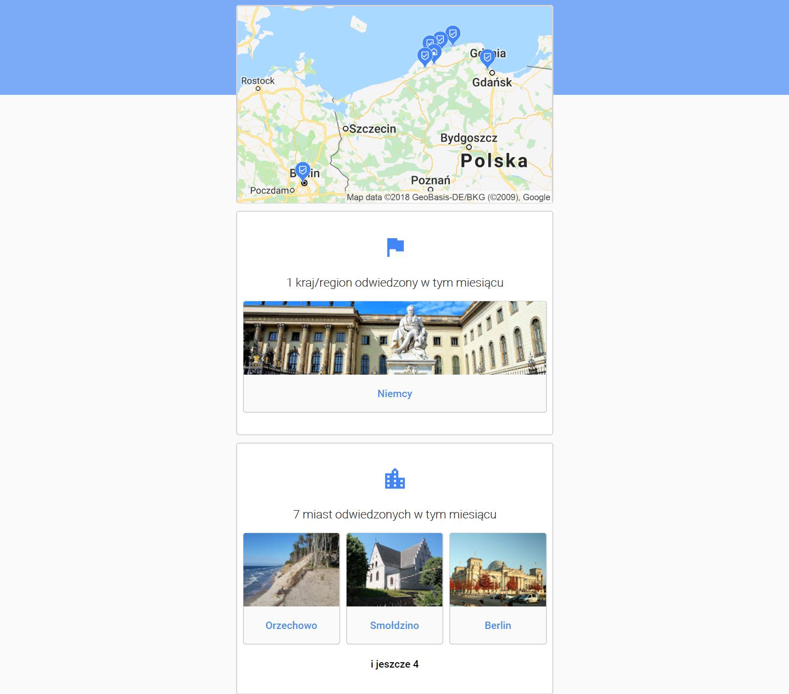 Google Maps Oś czasu