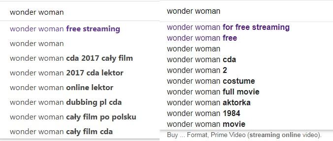 wyszukiwanie darmowych filmów google vs bing