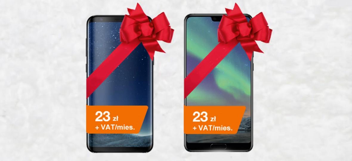 Święta w Orange dla firm przyszły wcześniej. Galaxy S8 i Huawei P20 do wyrwania w bardzo niskich cenach