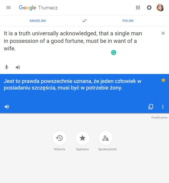 tłumacz google wreszcie responsywny