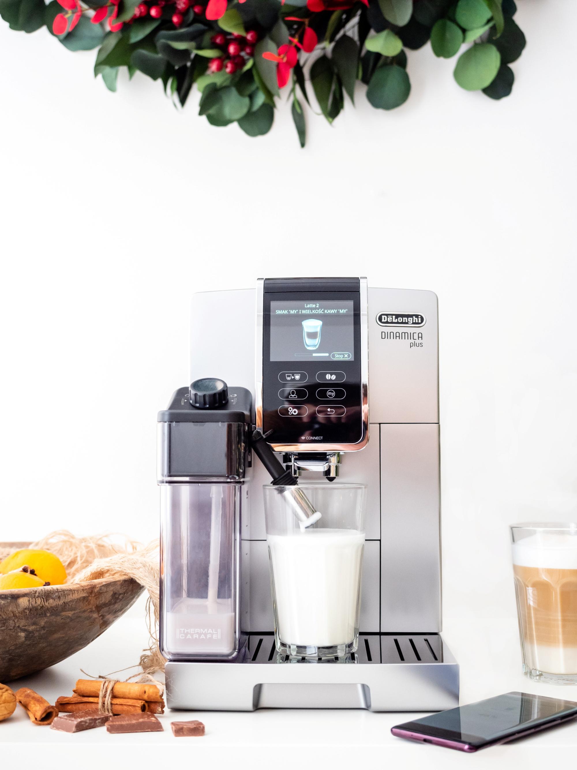 Ekspres do kawy latte i cappuccino - De'Longhi Dinamica Plus