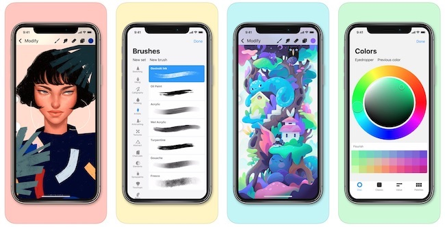 app store top 2018 aplikacja iphone procreate pocket