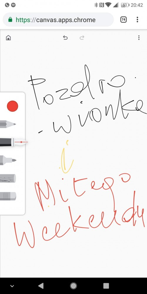 chrome canvas tablica do rysowania