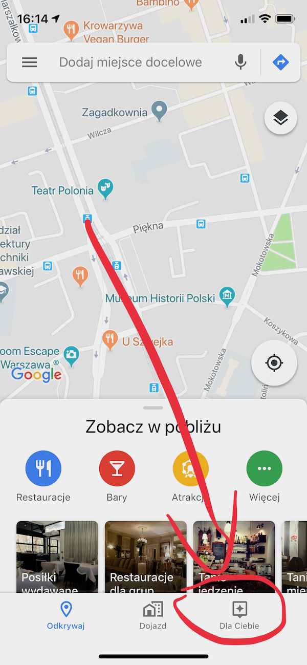 mapy google maps iphone ios dla ciebie for you rekomendacje 4