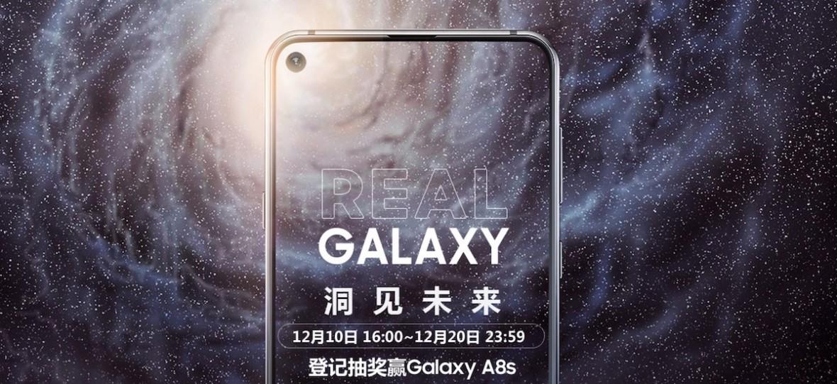 Debiutuje Samsung Galaxy A8s bez ramek i bez notcha. Za to z dziurą w ekranie