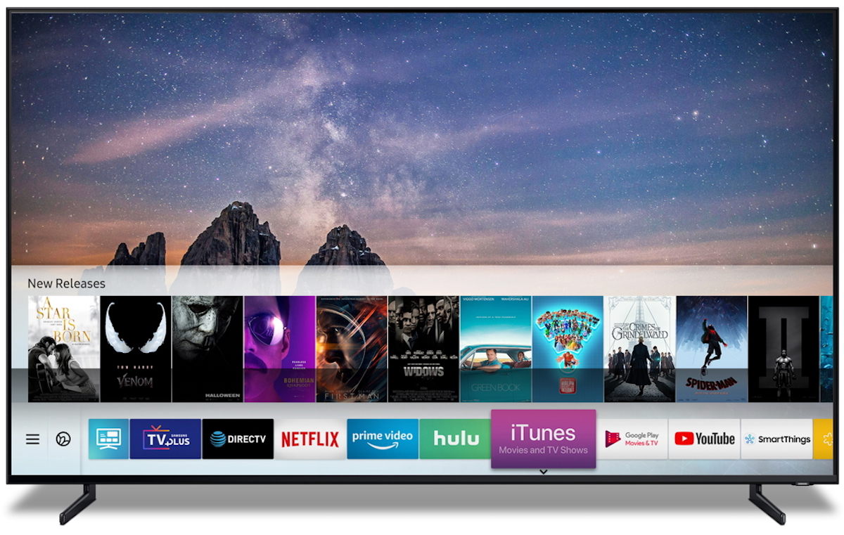 Samsung smart TV airplay 2 tizen iTunes Movies and TV shows aplikacja