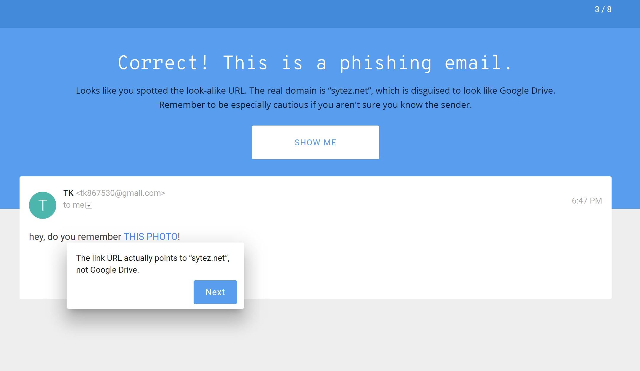 google phishing test