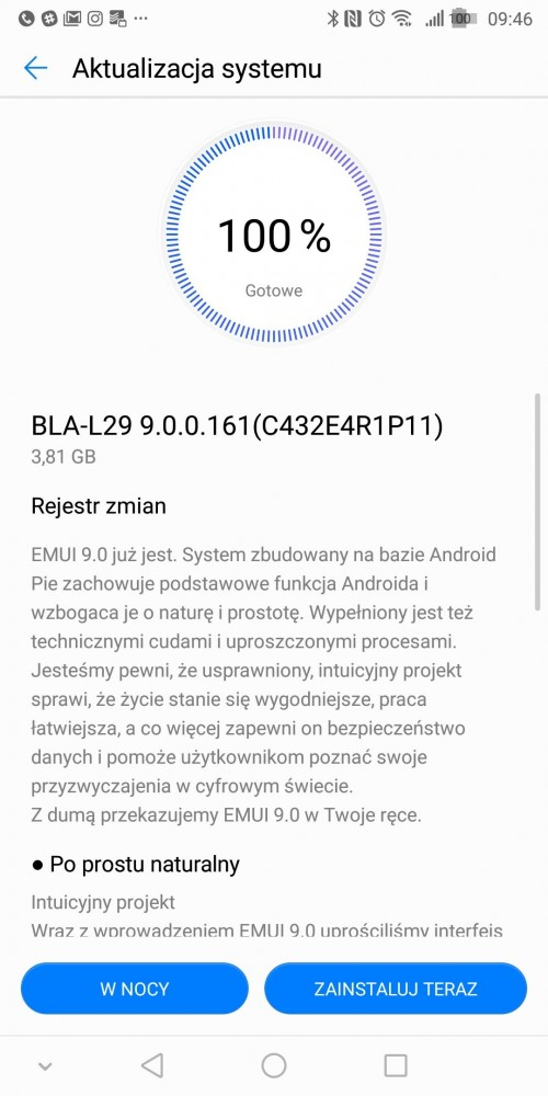 Huawei Mate 10 Pro Android 9.0 pie