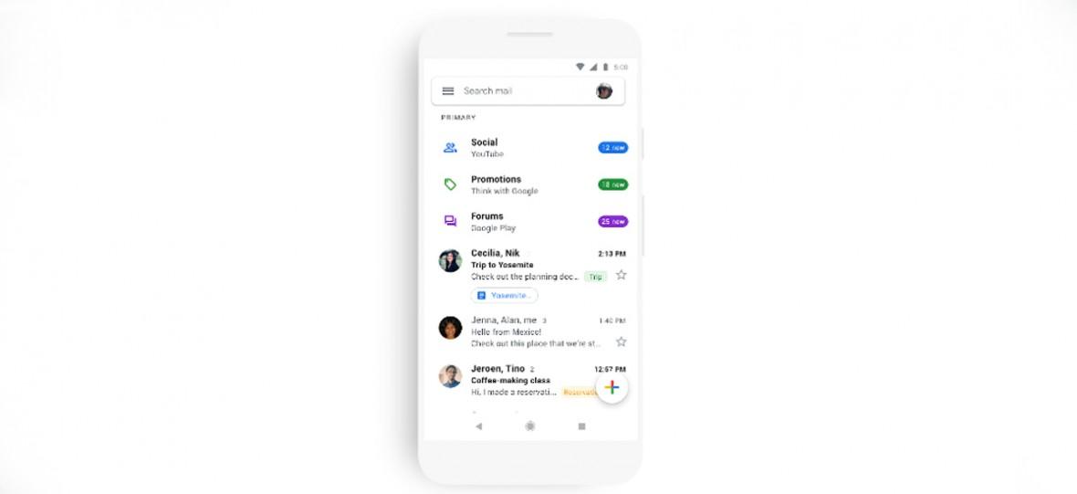 Tak wygląda nowa mobilna aplikacja Gmaila. Niedługo trafi na twój telefon