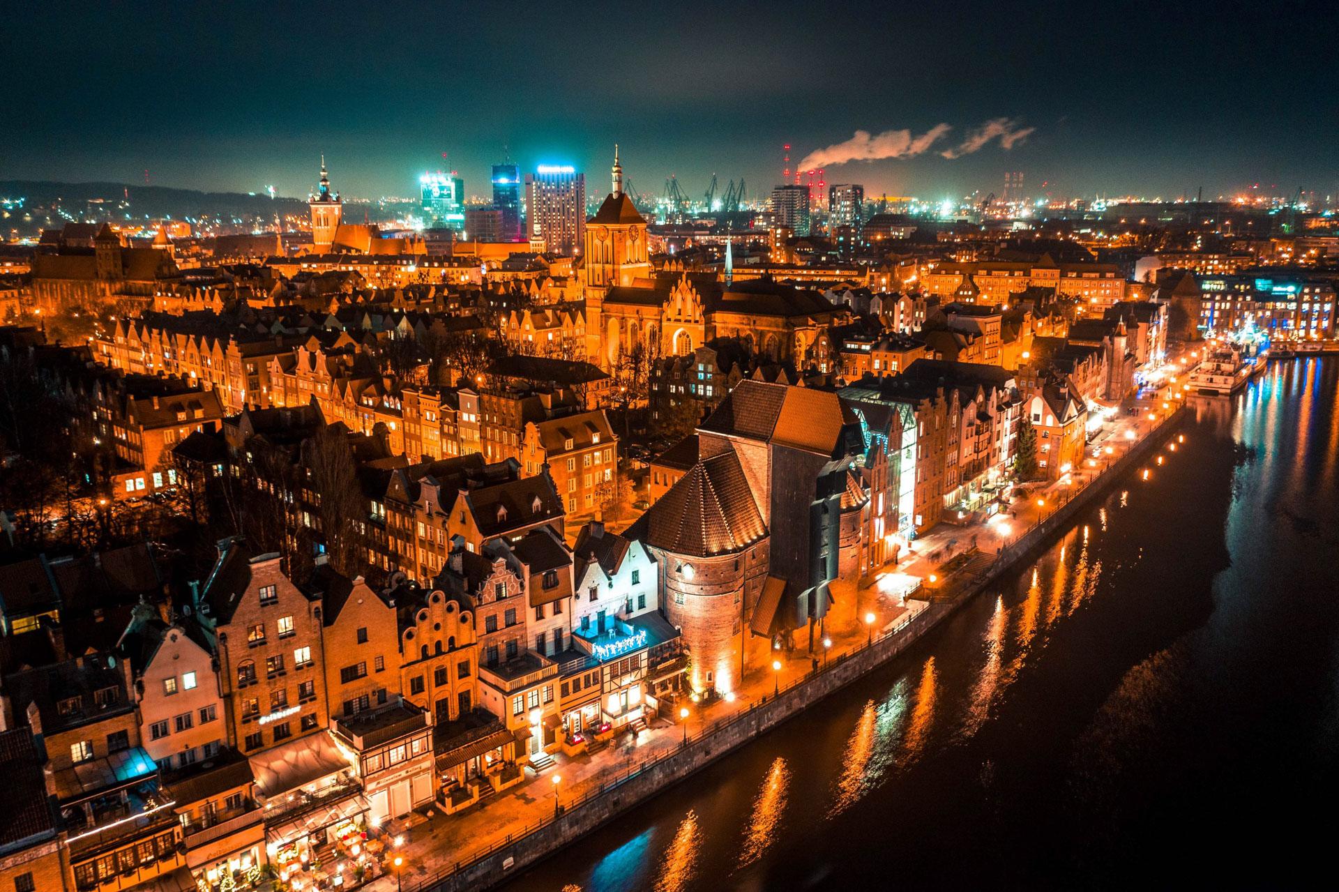 Warszawa z drona, fot. Aleksander Głowacki