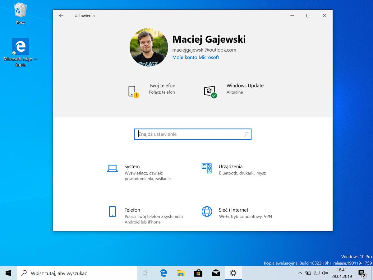 Windows 10 w wersji 1903 – wszystkie informacje w jednym miejscu