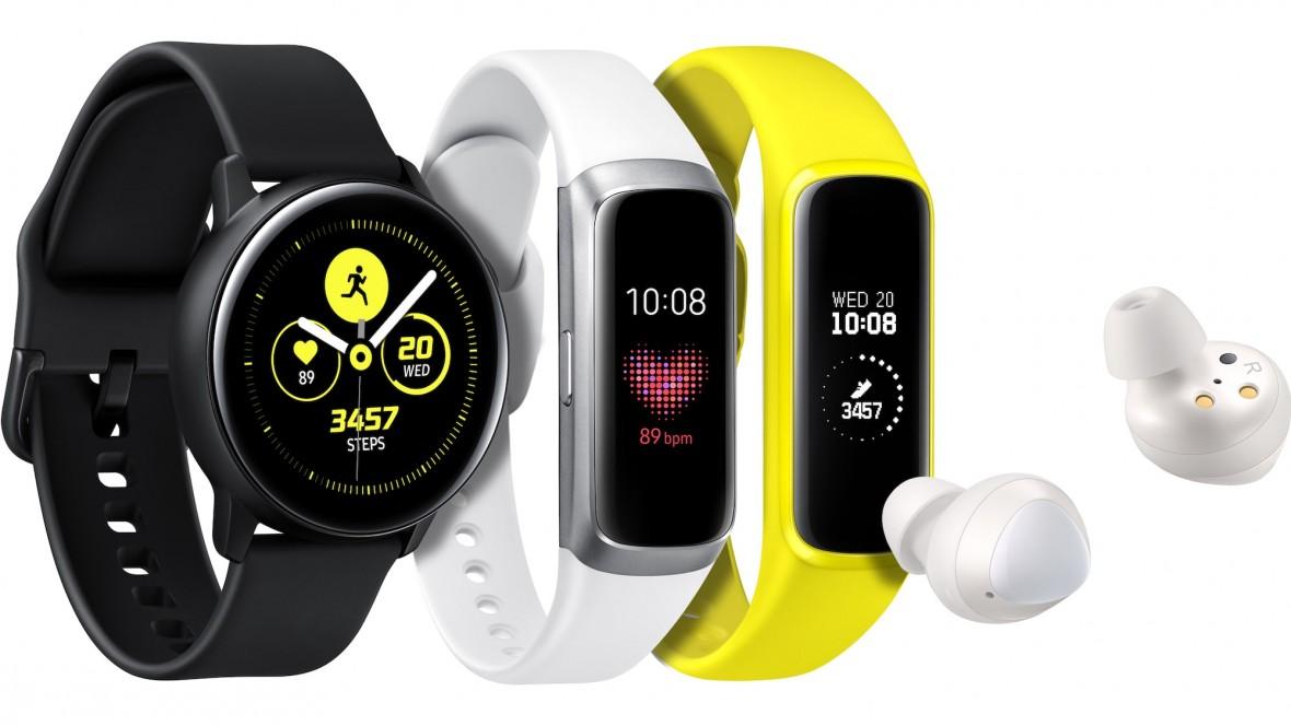 Samsung pokazał zegarek Galaxy Watch Active, opaskę Galaxy Fit i słuchawki Galaxy Buds