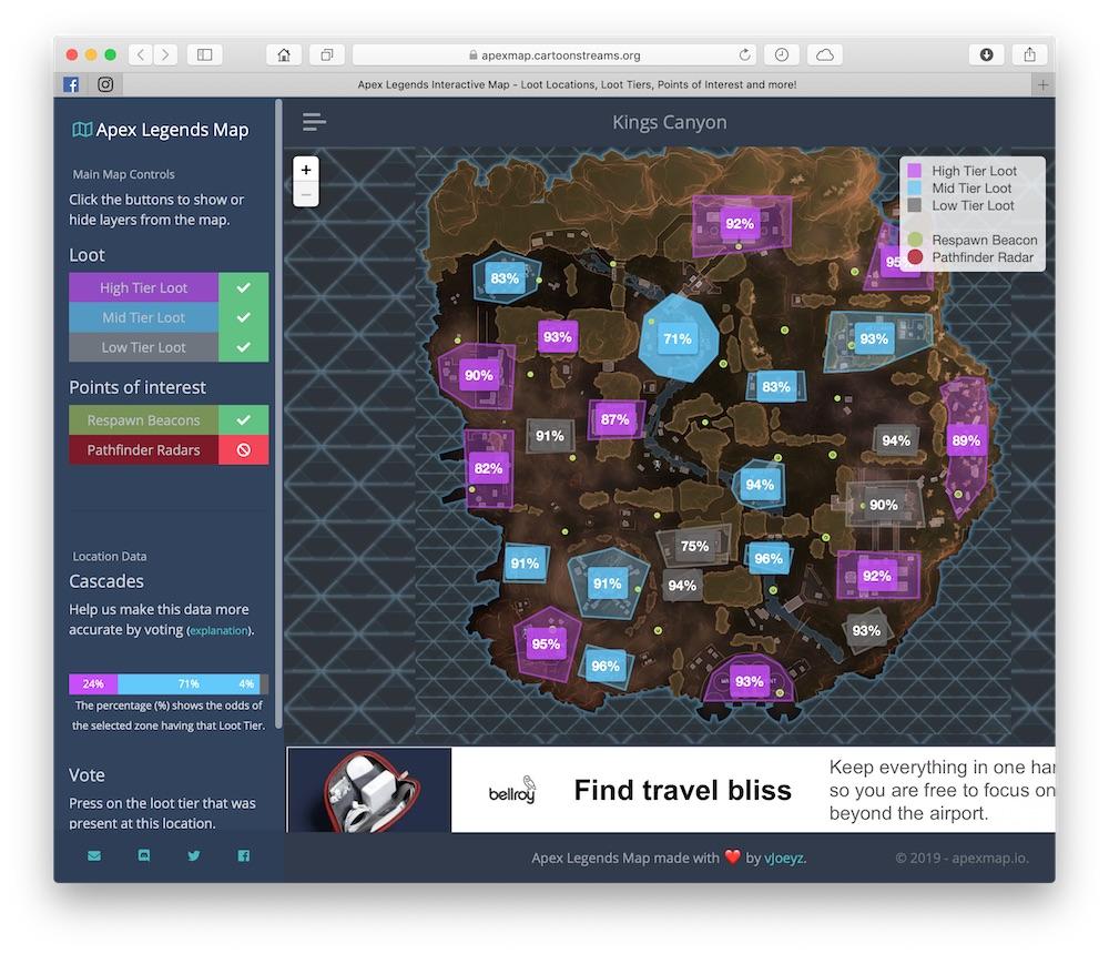 apex legends mapa loot gdzie lądować