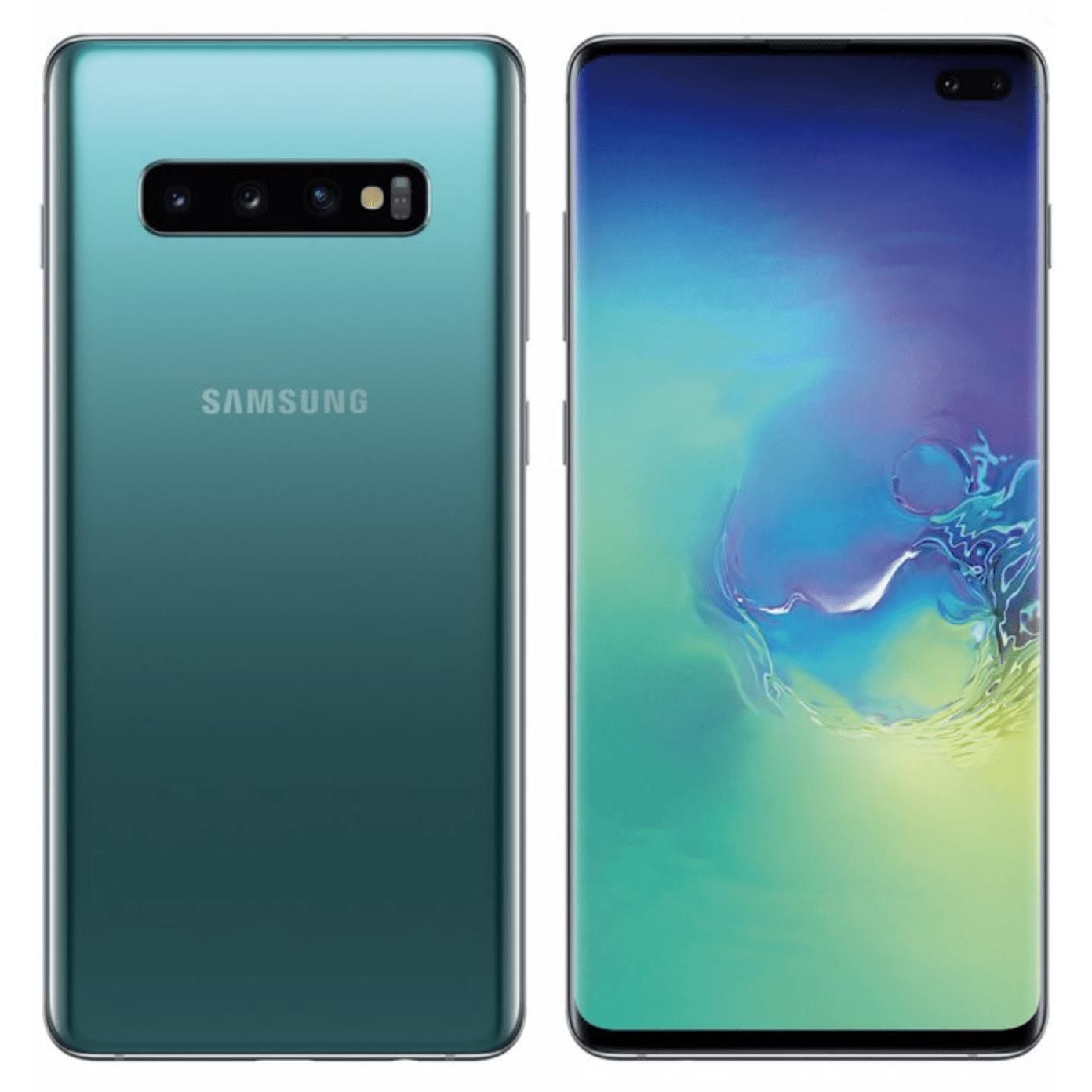 Samsung Galaxy S10 Plus (topowa wersja z podwójnym aparatem z przodu).