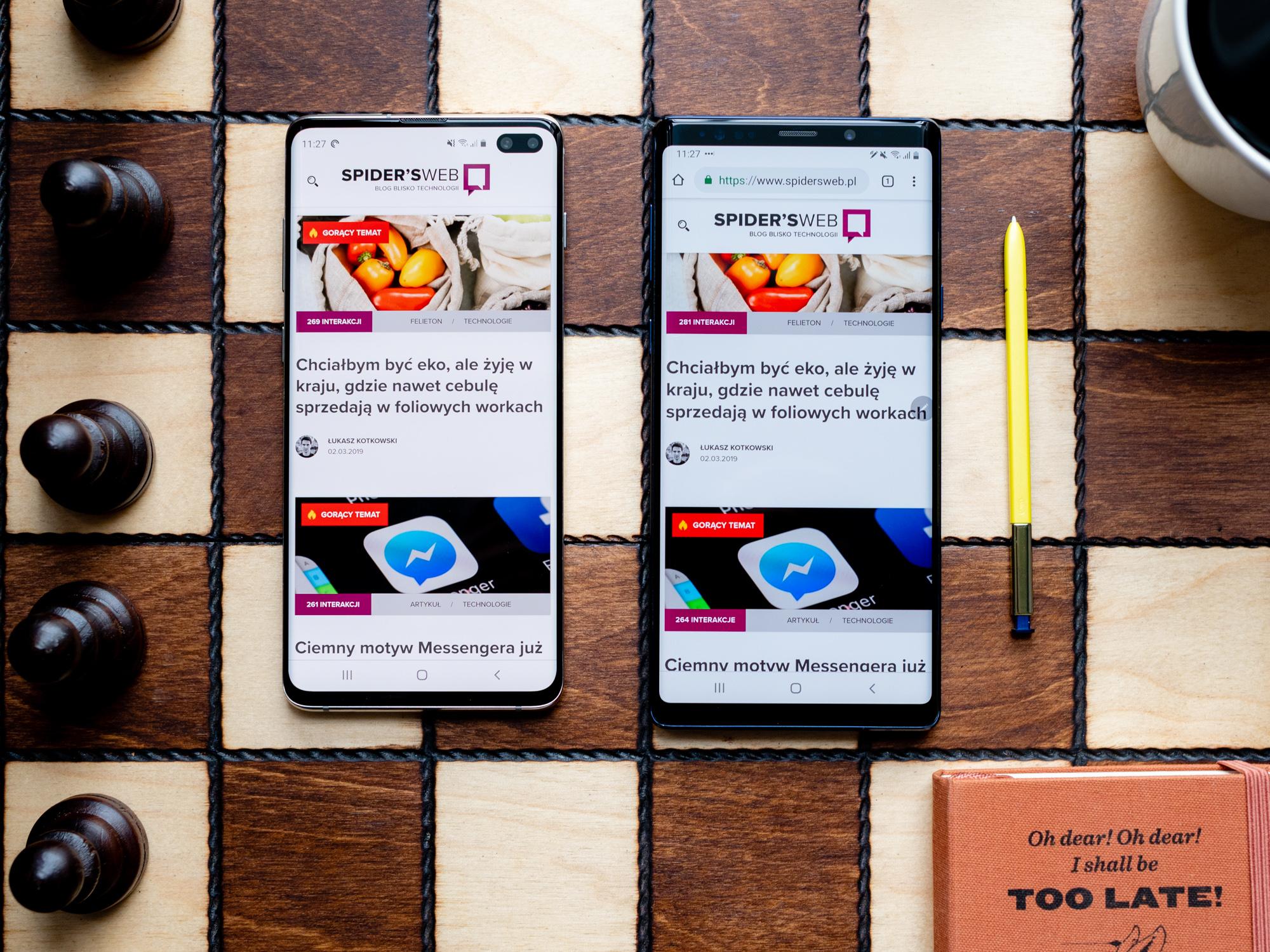 Galaxy S10 Plus czy Galaxy Note 9 oto jest pytanie