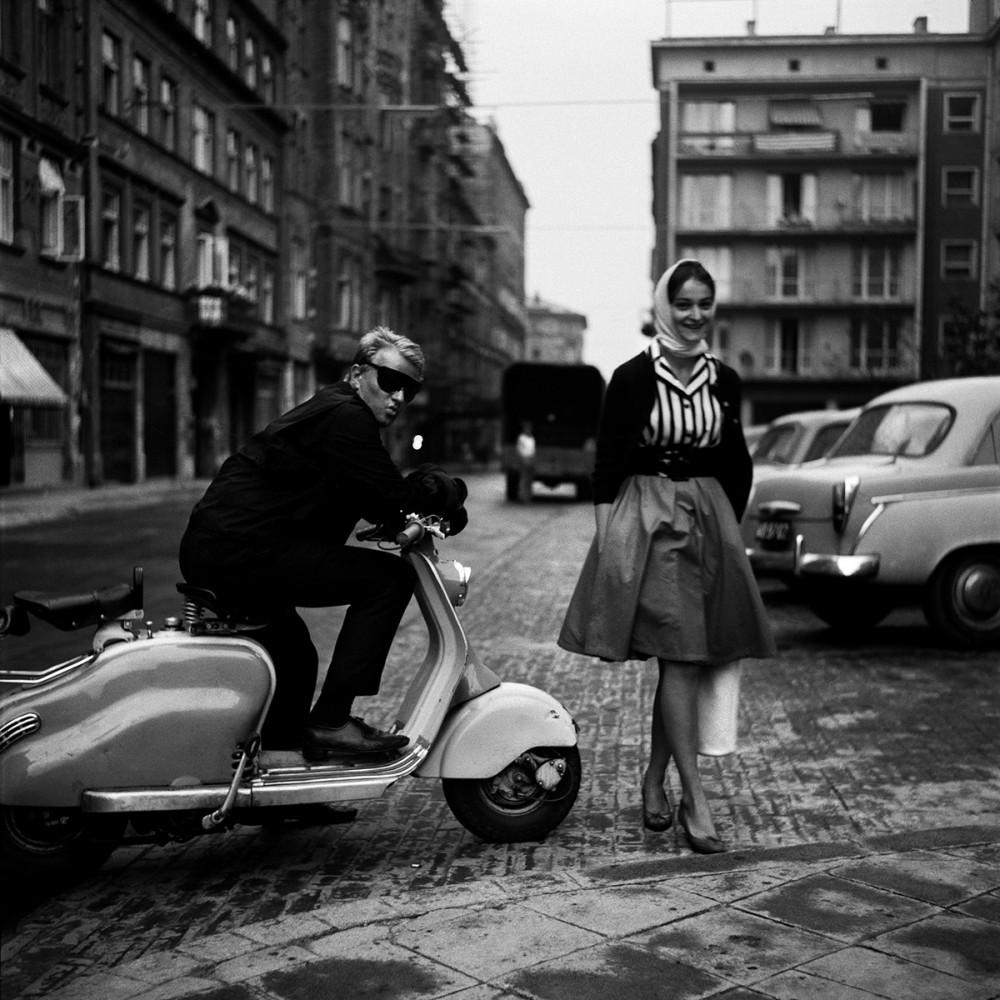 Fotograf Eustachy Kossakowski i Joanna Matylda Fiszer, 1960. Fot. Tadeusz Rolke/Agencja Gazeta
