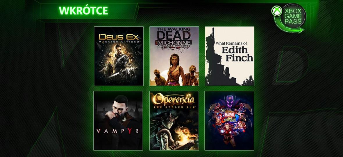 Deus Ex: Rozłam Ludzkości, Vampyr i wiele innych nowości w katalogu Xbox Game Pass