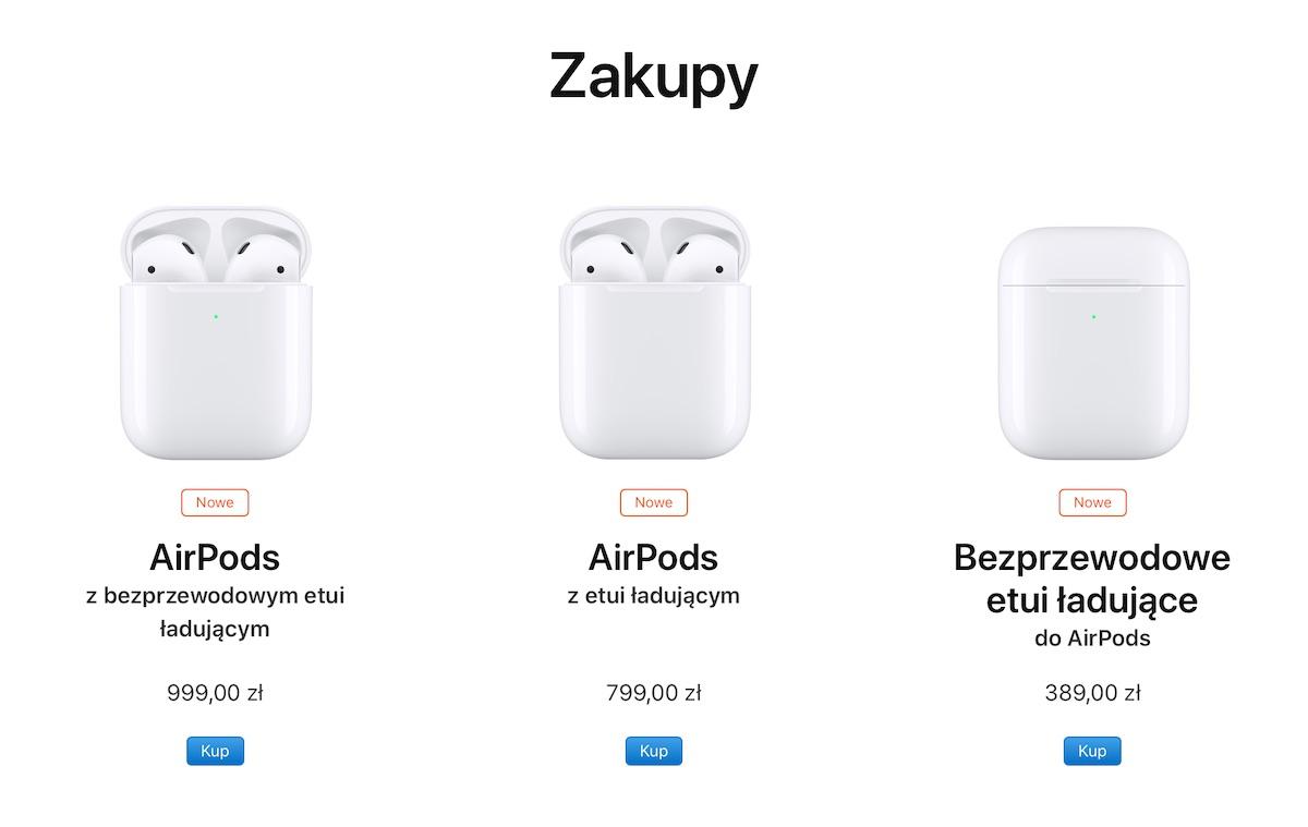 apple airpods ładowanie bezprzewodowe etui case qi ceny