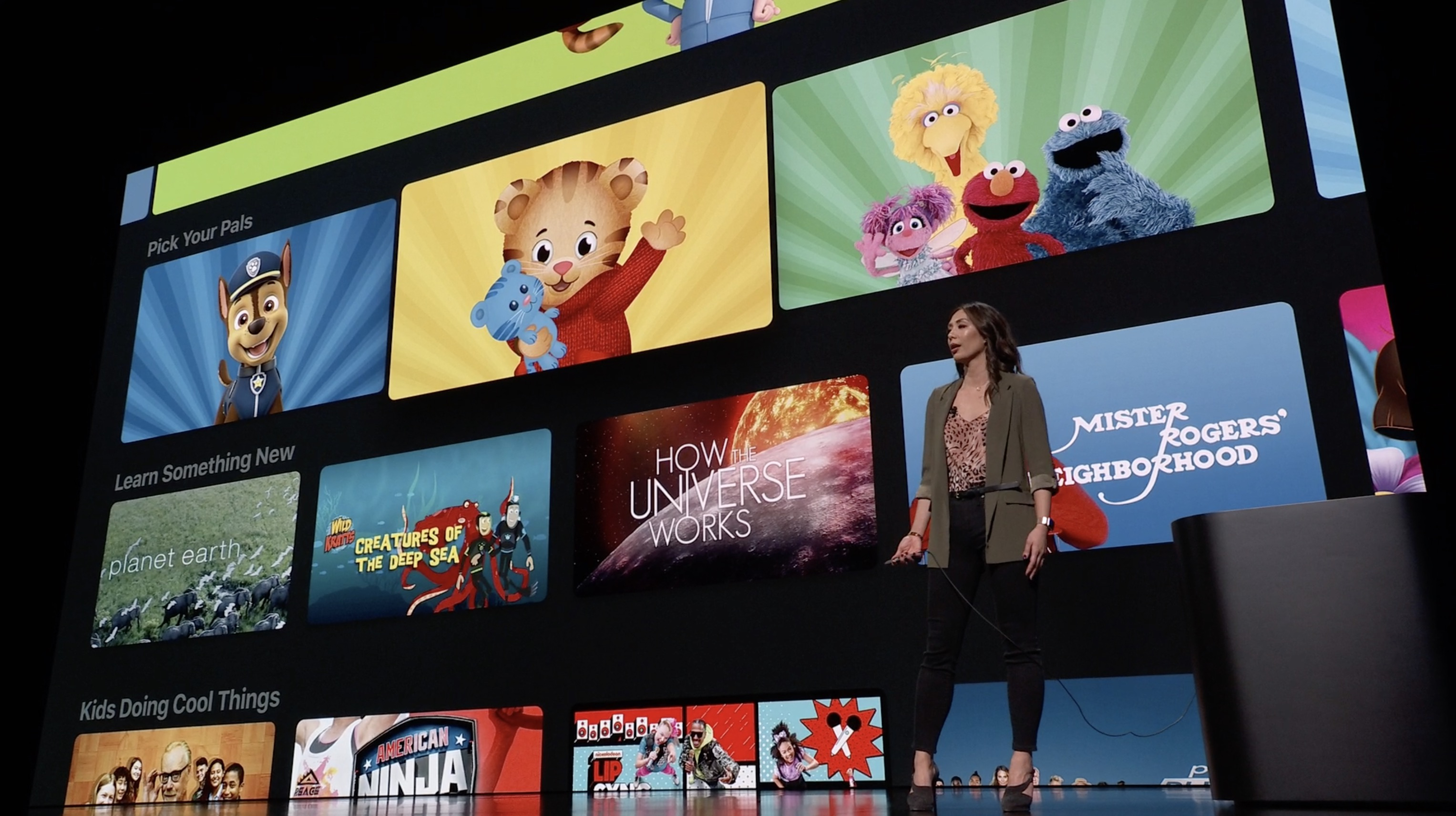 This is Apple TV +. A service that will compete with Netflix and HBO Go