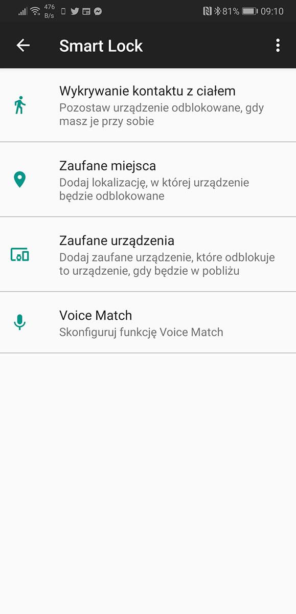 asystent google odblokowanie głosem