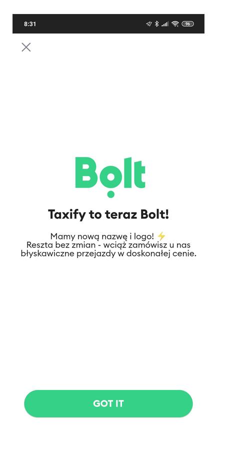 Bolt czyli nowe Taxify