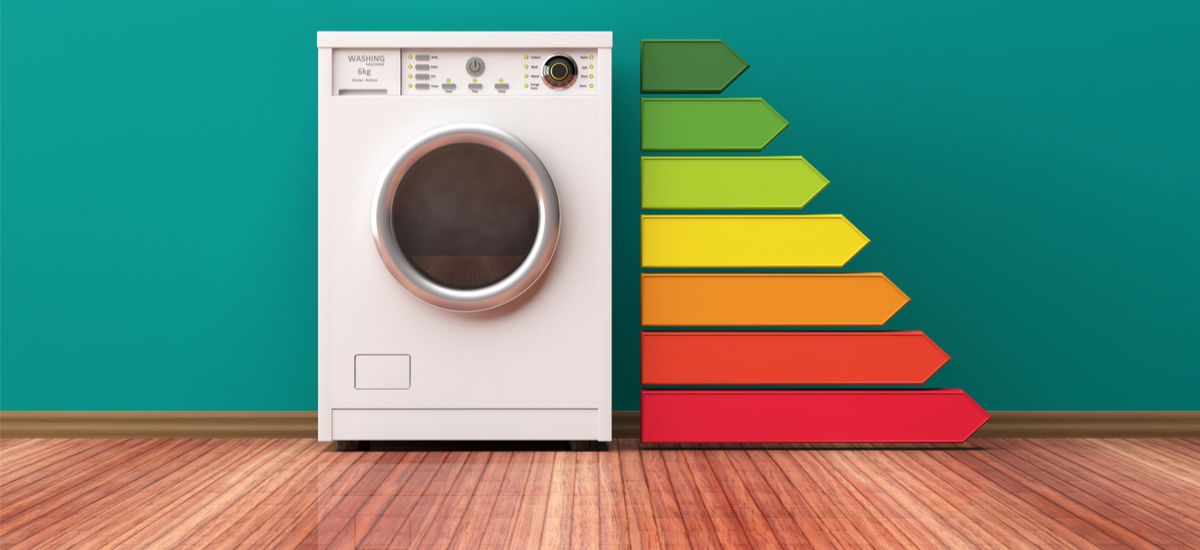 New labels: scale from A to G. A washing machine with energy efficiency A +++ will now get a C rating