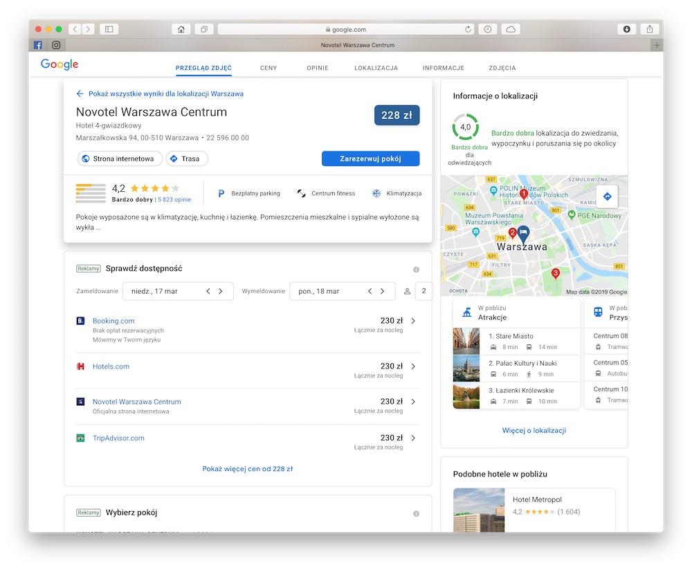 google hotels 4