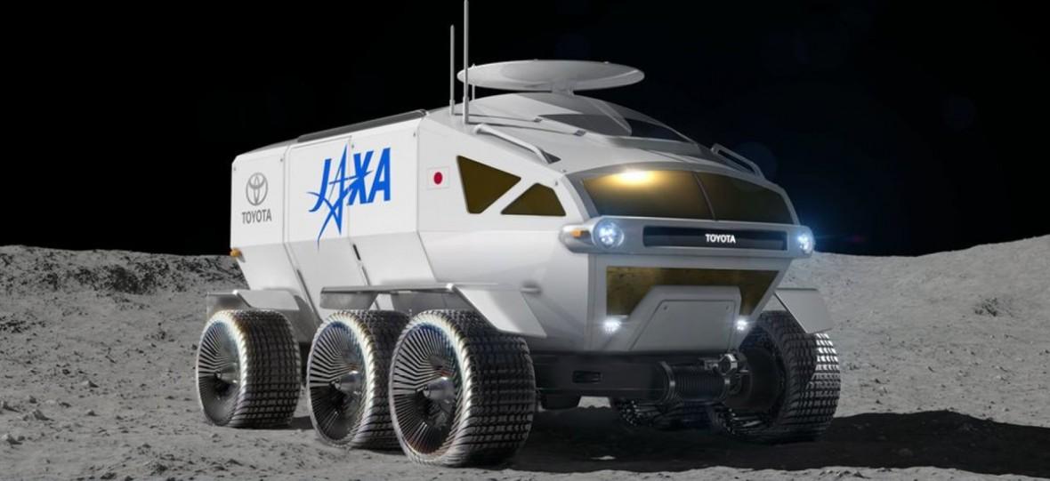 Łazik Toyoty to idealny kamper do wycieczek po Księżycu