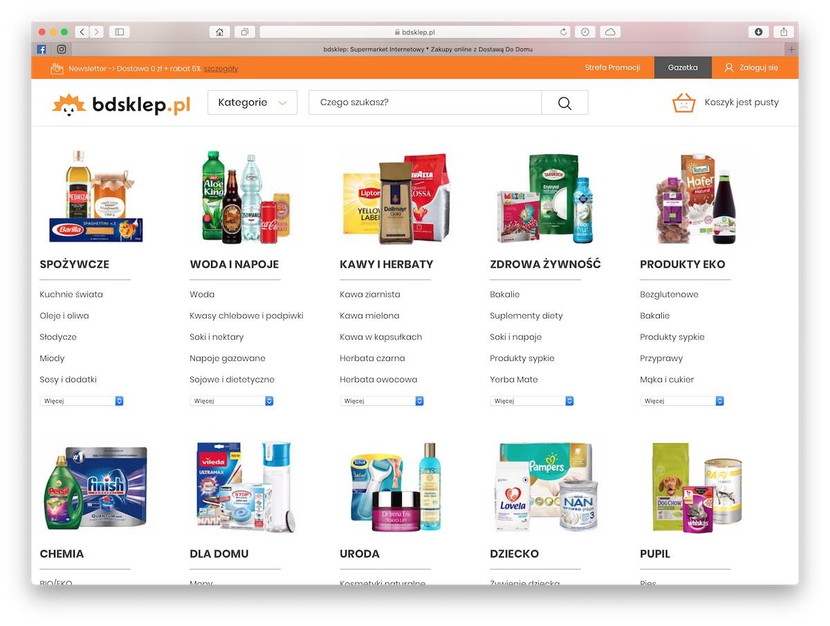 cc347d21873735 bdsklep.pl, czyli internetowy supermarket. Rabat 5% i darmowa dostawa