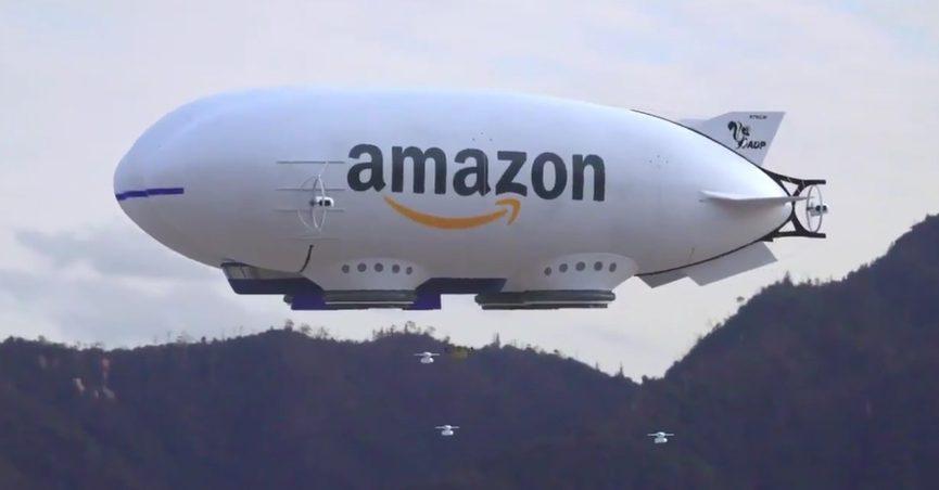 nowy pomysł na dostawę dronami Amazona wygląda jak wyciągnięty z Blade Runnera