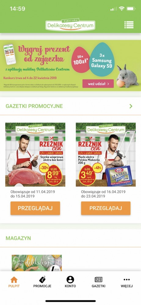 aplikacje zakupy 11 delikatesy centrum