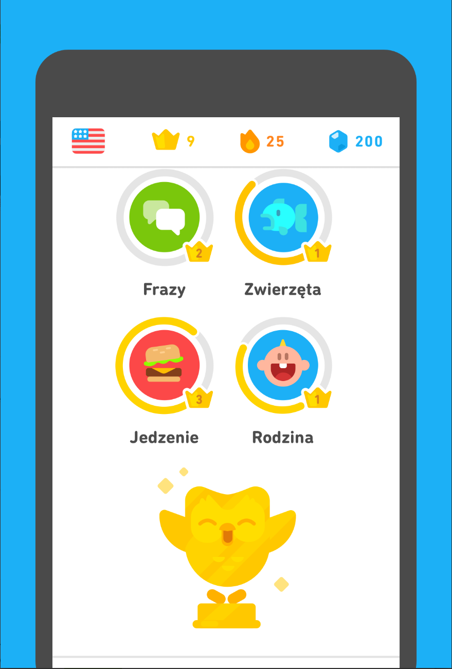 Najlepsze aplikacje edukacyjne - Duolingo
