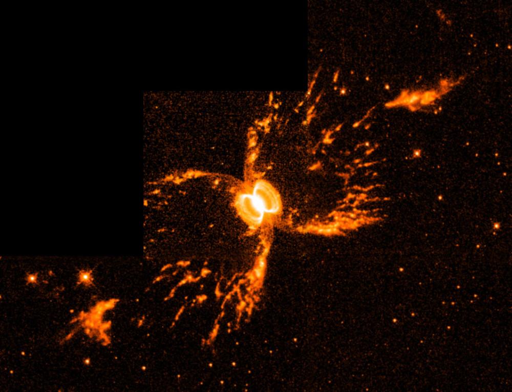 Mgławica Południowy Krab, pierwsze zdjęcie teleskopu Hubble'a, 1998 r. Fot. NASA
