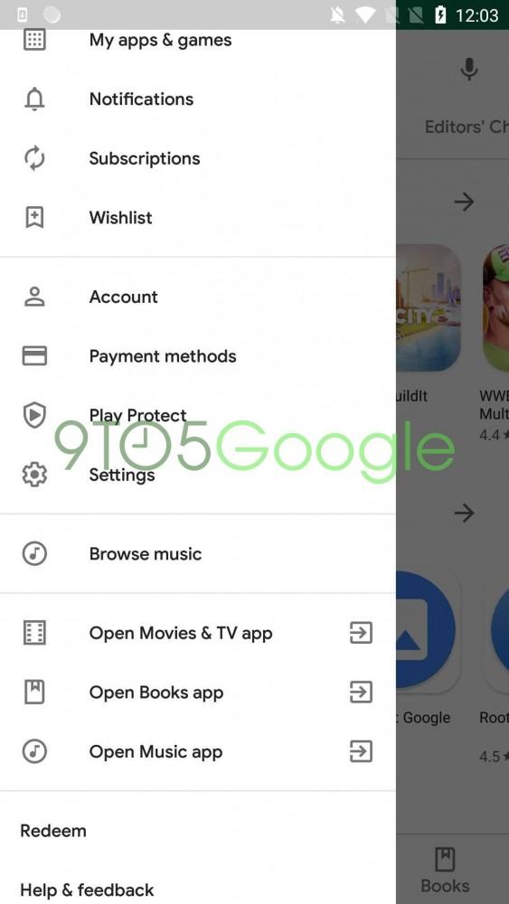 google play sklep w material theme