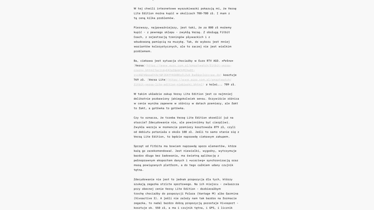 iA Writer na macOS - widok domyślny