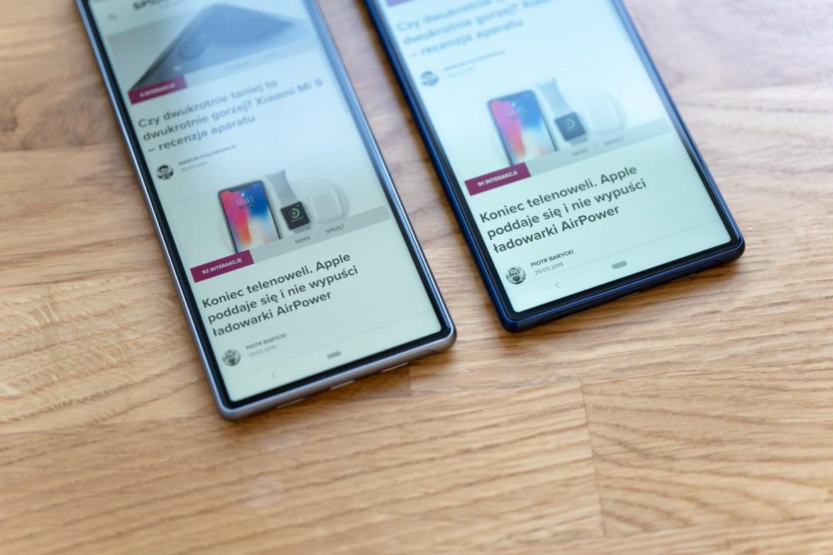 Trudno je pomylić z innymi smartfonami. Sony Xperia 10 i 10 Plus – recenzja